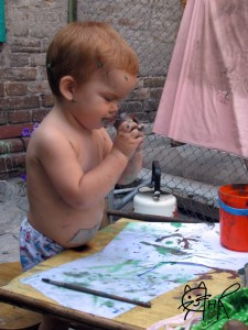 Первый опыт рисования
