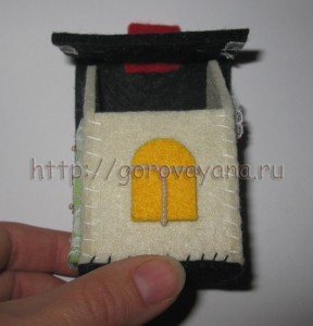 МК фетровый домик для ёлочки