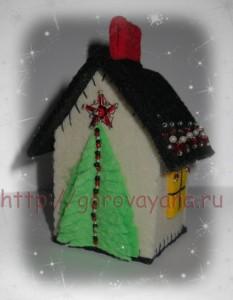 фетровый домик на ёлочку