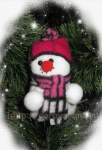 ёлочные игрушки - снеговичок