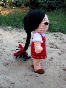 вязаная кукла Алёнка