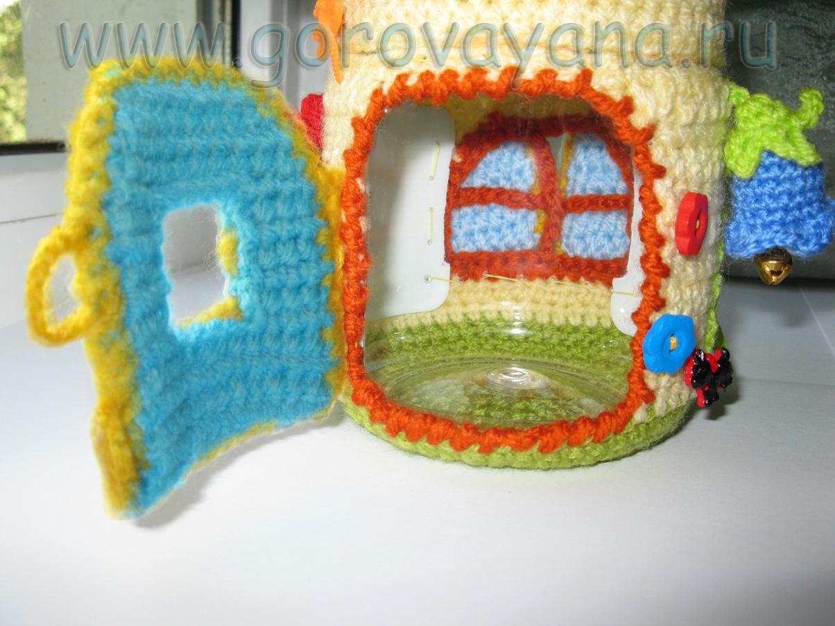 Вязание крючком домики и теремки