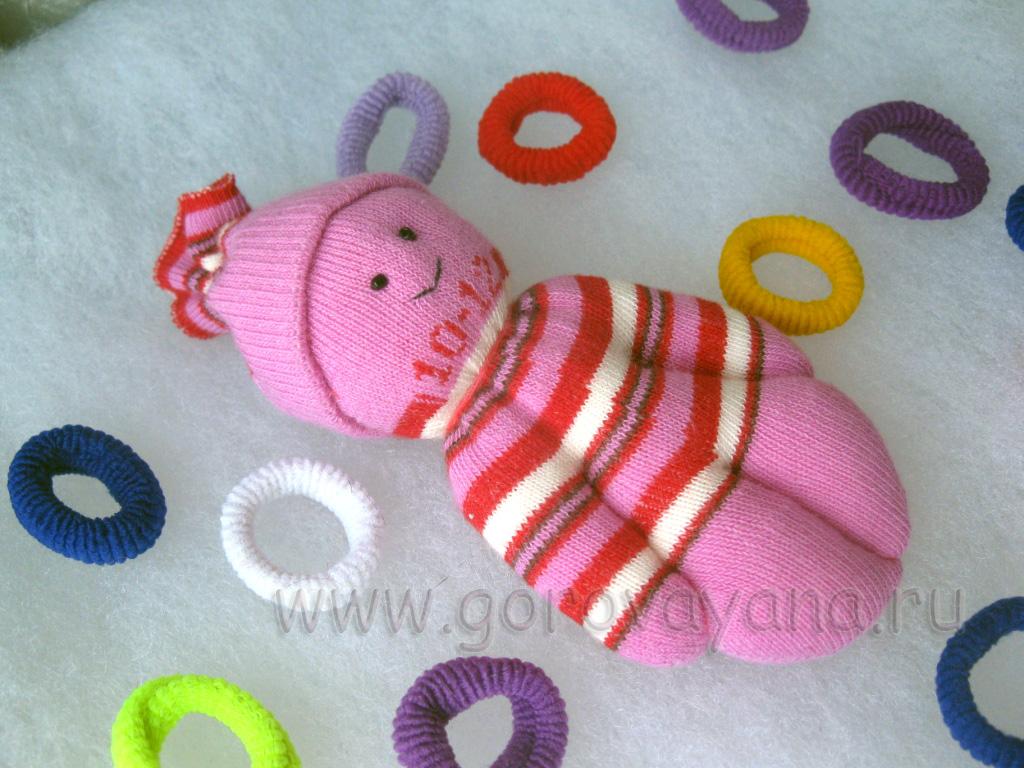 Кукла из носок своими руками для детей