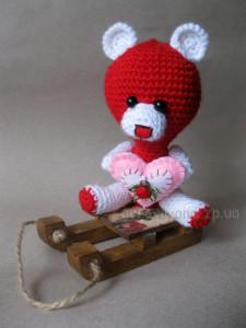 мишка валентинка