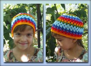 шапочка радужная малая 2